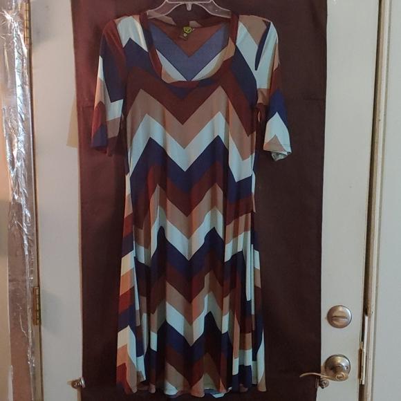 24/7 Comfort Apparel Dresses & Skirts - XL SWING DRESS